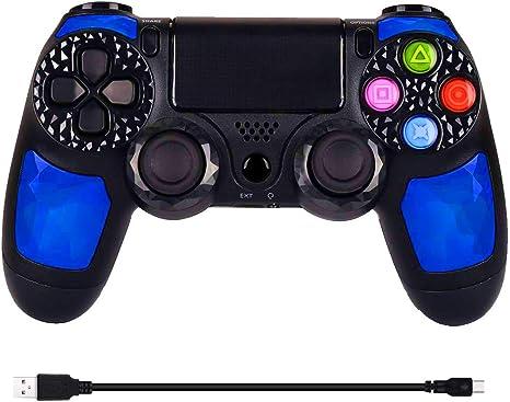 Controlador PS4 Controlador inalámbrico de juegos, uso compartido ...