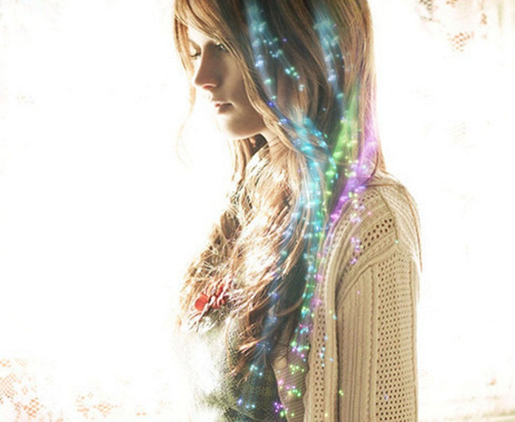 6pcs LED luminoso peluca LED luminoso mechones de pelo de joyer/ía adornos de Navidad luminoso flores