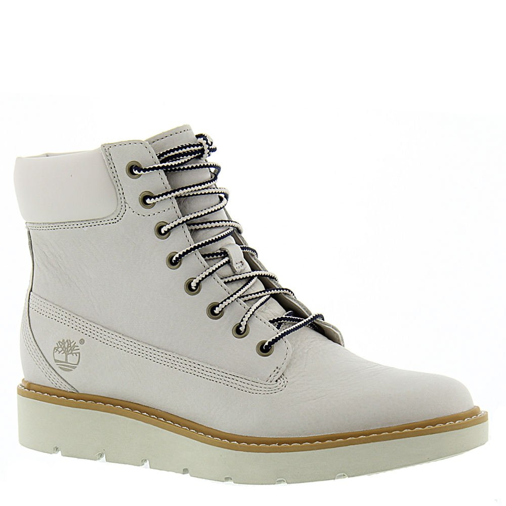 Timberland Women's Kenniston 6'' Lace Up Boot,White Full Grain Leather,US 9.5 M