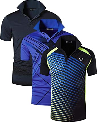 jeansian Hombre 3 Mix Packs Deporte Camiseta de Mangas Cortas T-Shirt Polo LSL195 Pack: Amazon.es: Ropa y accesorios