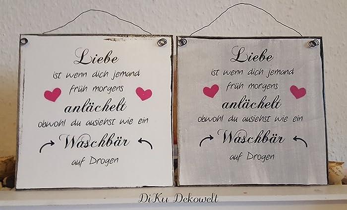Shabby Deko Schild .Liebe. Handgemacht: Amazon.de: Handmade