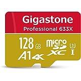 Gigastone Micro SD Card 128GB マイクロSDカード 128 GB UHS-I U3 Class 10 高速 メモリーカード 4K ウルトラHD 動画 最適 ニンテンドー Switch 動作確認済 SD 変換アダプタ付 スマホ タブレット デジカメ ビデオカメラ ゴープロ ドラレコ ドローン パソコン