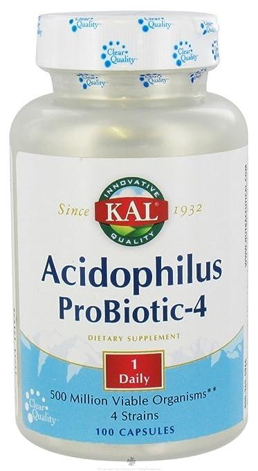 Amazon.com: Kal - Acidophilus ProBiotic-4-100 Vegetarian Capsules: Health & Personal Care