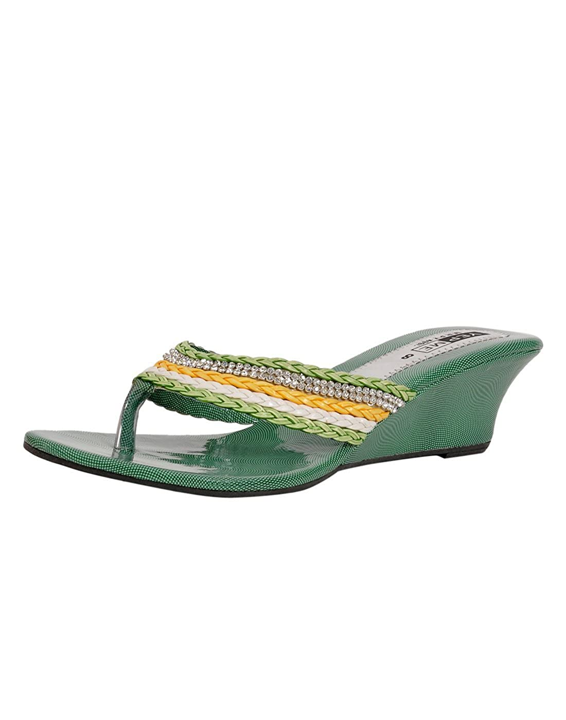 f8ded7d2a9349 Yepme Women's Green Wedges YPWFOOT8688_8 UK: Buy Online at Low Prices in  India - Amazon.in