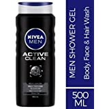NIVEA MEN Active Clean Shower Gel & Body Wash, 500ml