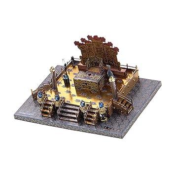 IPOTCH 1: 170 Modelo de Palacio Zhengdaguangming 3D Metal Juguete de Aseamblea de Arquitectura Juego