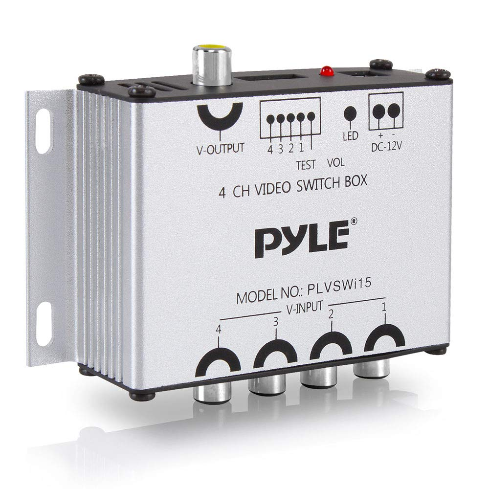 Pyle 4-Channel Camera & Video Switcher - Switch Box Controller