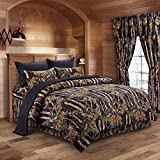 Black and Tan Comforter Sets King The Woods Black Camouflage King 8pc Premium Luxury Comforter, Sheet, Pillowcases, and Bed Skirt Set by Regal Comfort Camo Bedding Set For Hunters Cabin or Rustic Lodge Teens Boys and Girls