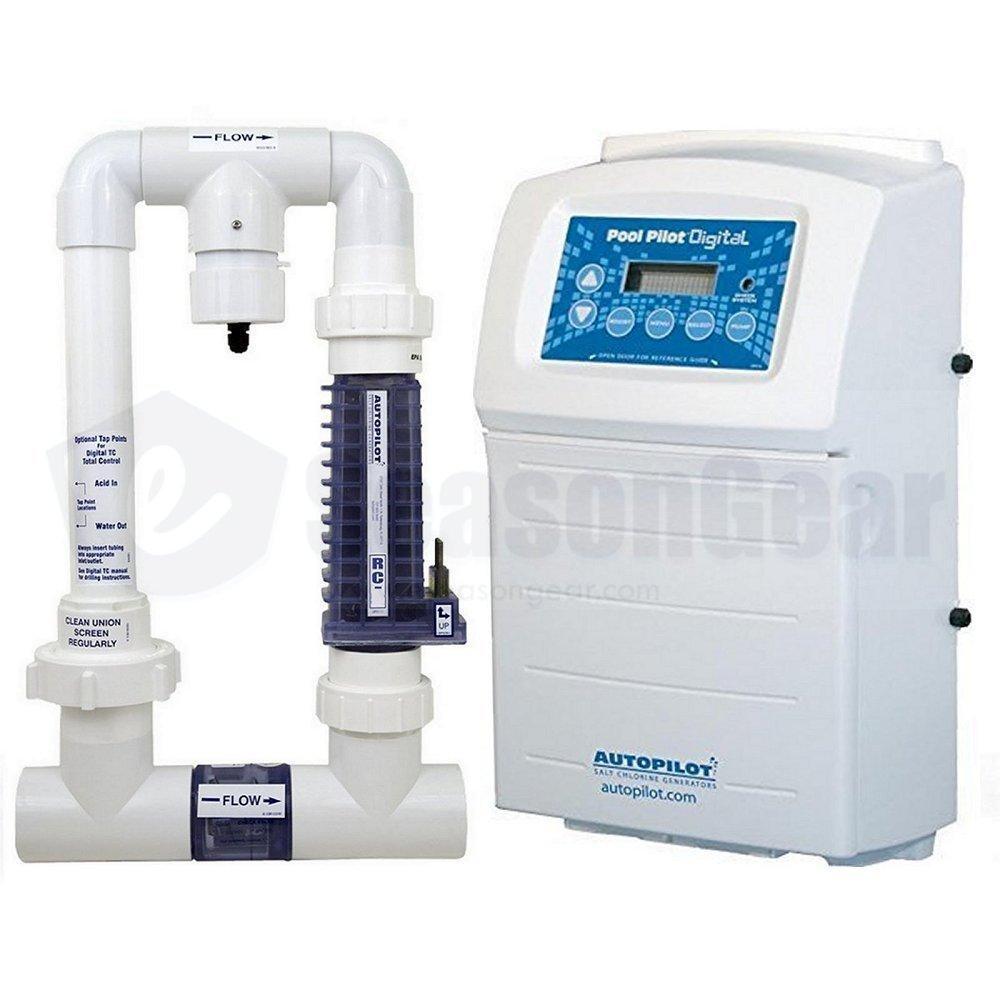 Autopilot DIG-35 Pool Pilot Digital Salt Chlorine Generator, Chlorinator, DIG-220 + PPM1 Manifold with PPC1 Cell