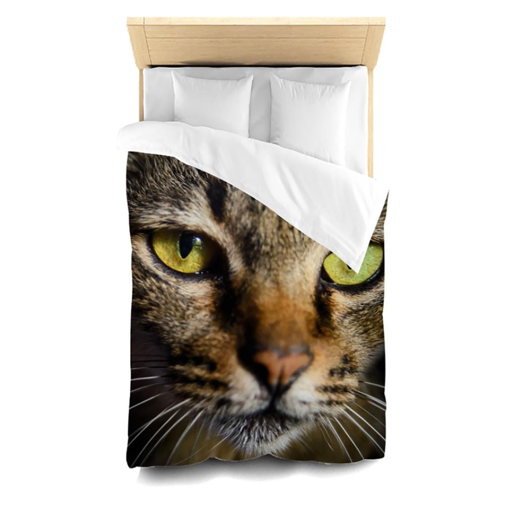 Pixsona Thai Cat Close Up Duvet Cover, Twin by Pixsona