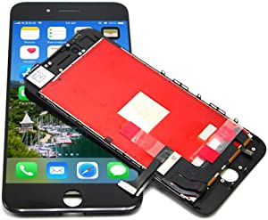 passionTR for Black iPhone 8 Plus 5.5 Inch LCD Screen Replacement 360 Degrees All Angles Under Sunglasses 2nd Generation Digitizer Frame Assembly Full Set Touch Screen Display