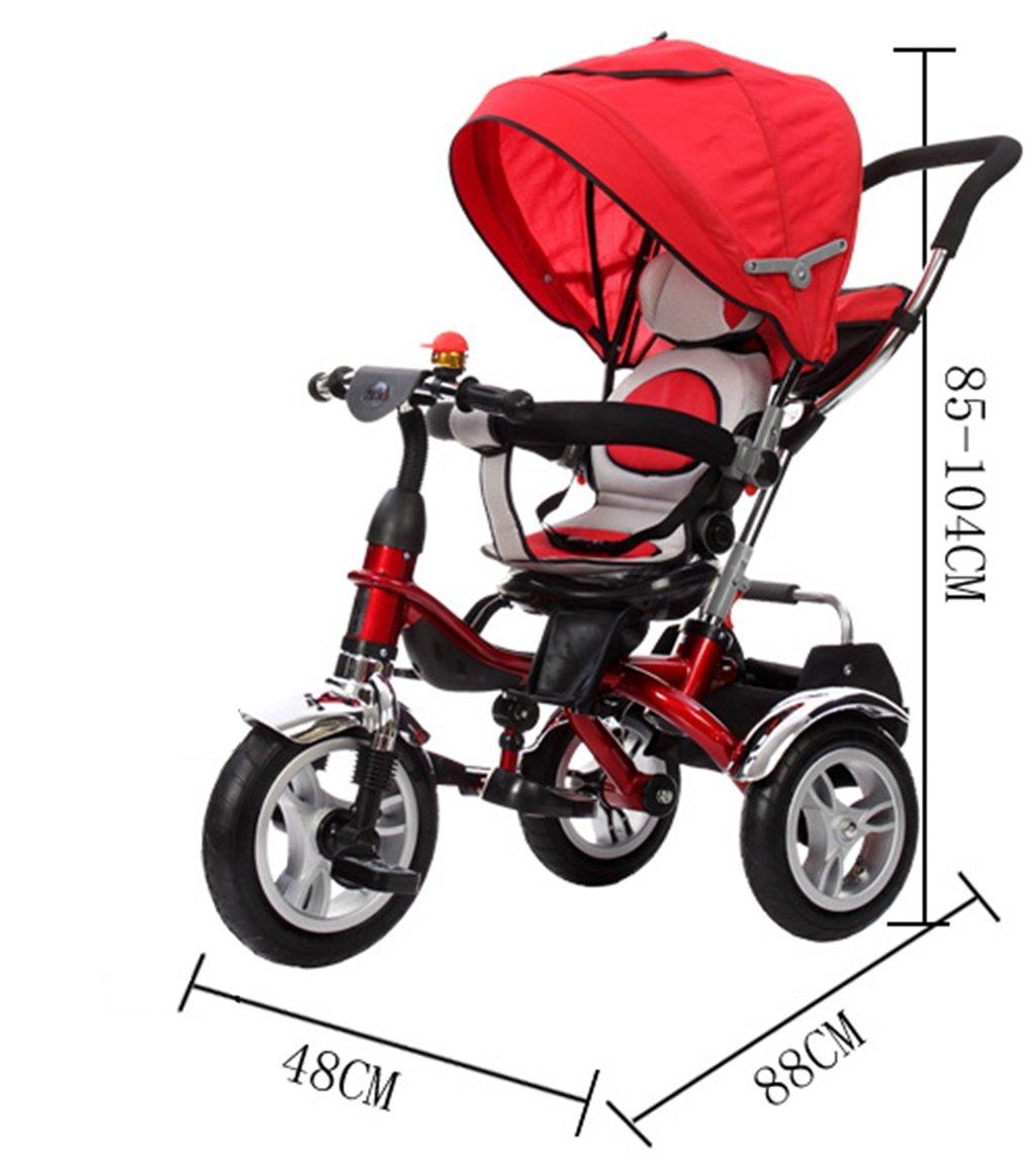 ZGP &Cochecito de bebé Triciclo para niños 1-3 años ...