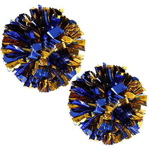 1 Pair Team Sports Cheerleading Poms Match Pom Plastic Ring Pompoms -