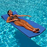 "Texas Recreation Sunsation 1.75"" Thick Swimming Pool Foam Pool Floating Mattress, Bahama Blue"