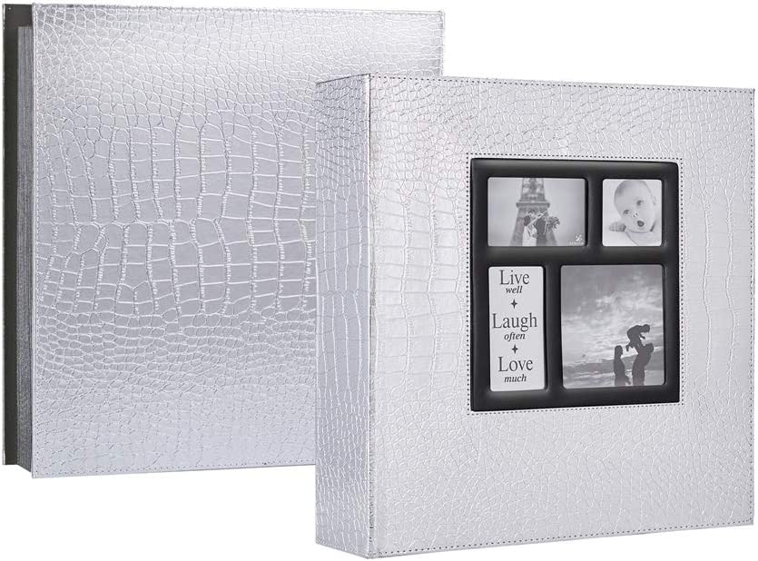 Extra Large Capacity Family Wedding Picture Albums Holds 500 Horizontal And Vertical Photos Black Ywlake Photo Album 4x6 500 Pockets Photos Croco Photo Albums Accessories Bookshelf Albums