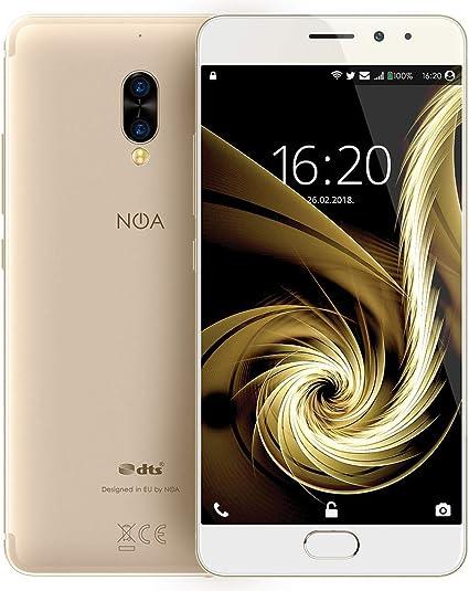 "NOA N5se Smartphone 4G LTE Desbloqueado | Dual SIM | Helio P10 8X Core A53 1.5GHz | 5.5 "" HD AMOLED 720 x 1280 px | 5000 mAh | 64 GB + 4 GB | Cámara Trasera Doble de 13 MP + 5 MP | Oro: Amazon.es: Electrónica"