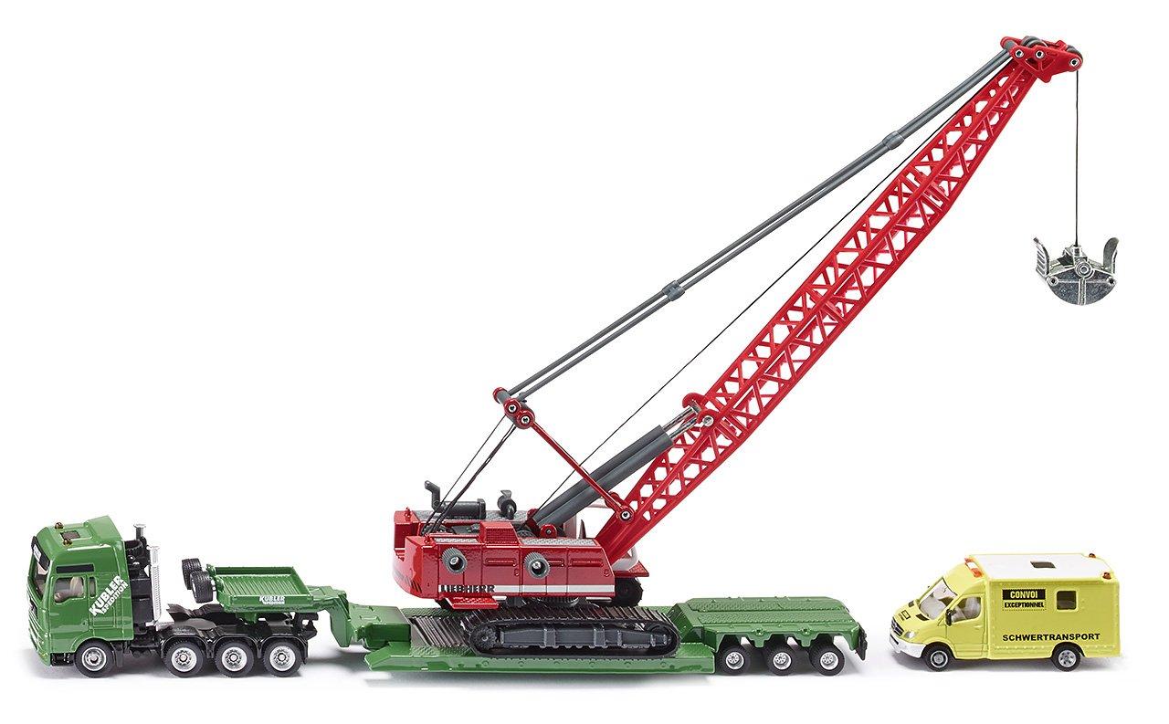 SIKU 1834 - Set de camiones con grúa de juguete