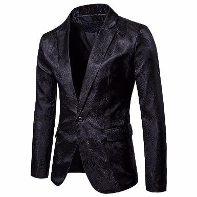 STRIR Chaqueta de Traje para Hombre,Moda Hombres de Encanto Casual Un Botón Apto Traje Blazer Chaqueta de Abrigo Tops