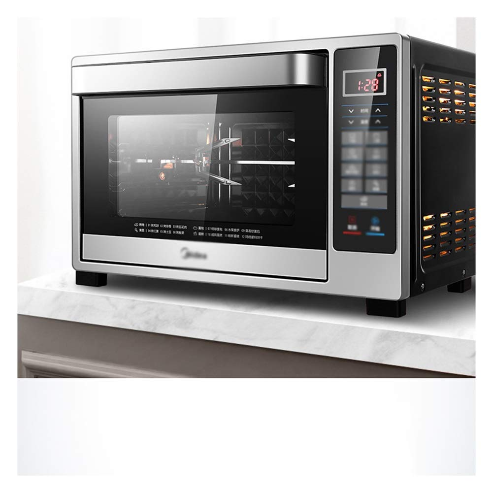 MWNV オーブン - グリルラック&ベーキングトレイ、グリル付きミニオーブン、32リットル高速加熱トースターオーブン、調理機能を含む   B07PWYCNFF