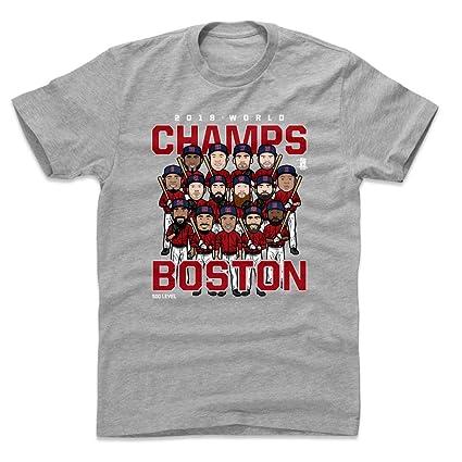 4efec9822c2 500 LEVEL Boston Red Sox World Series Cotton Shirt Small Heather Gray -  Boston Baseball 2018