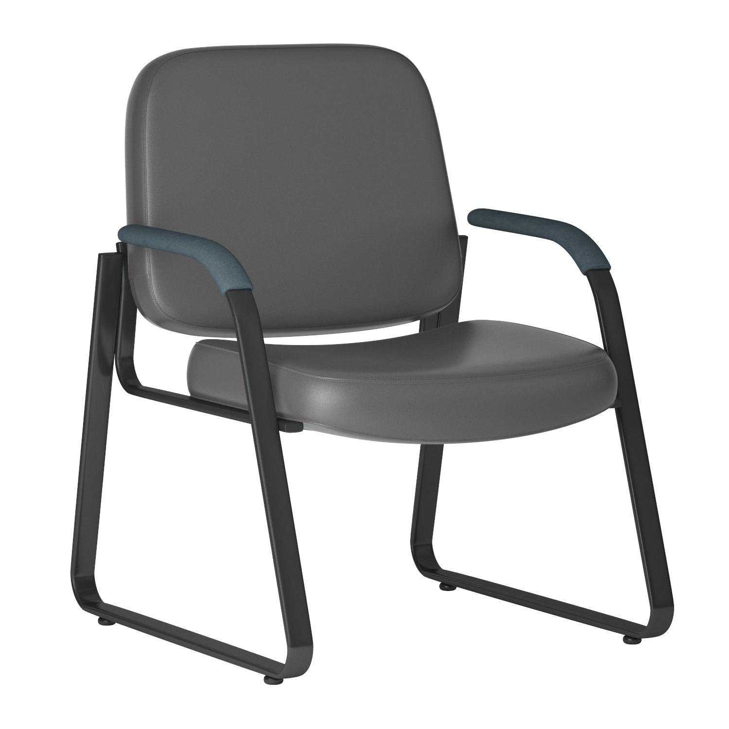 OFM Reception Chair with Arms - Anti-Microbial/Anti-Bacterial Vinyl Guest Chair, Charcoal (403-VAM) by OFM (Image #6)