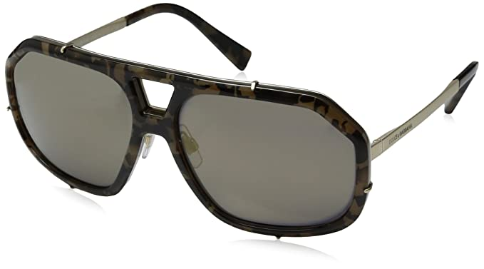 2fdc3f1a6 Amazon.com: Dolce & Gabbana Men's Metal Man Aviator Sunglasses, Black/Pale  Gold, 61 mm: Clothing