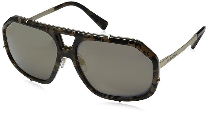 57458d7b Amazon.com: Dolce & Gabbana Men's Metal Man Sunglass Aviator, CAMO ...