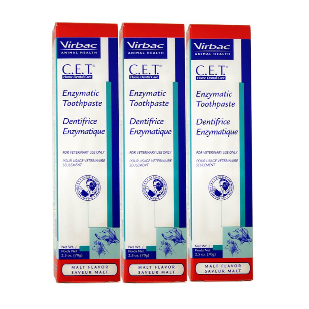 Virbac Dental Chews CET102-3 Malt Toothpaste (3 Pack), 2.5 oz by Virbac
