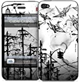 """GelaSkins Protective Skin for the iPhone 4 """"Cable Cranes"""" with Access to Matching Digital Wallpaper Downloads"""