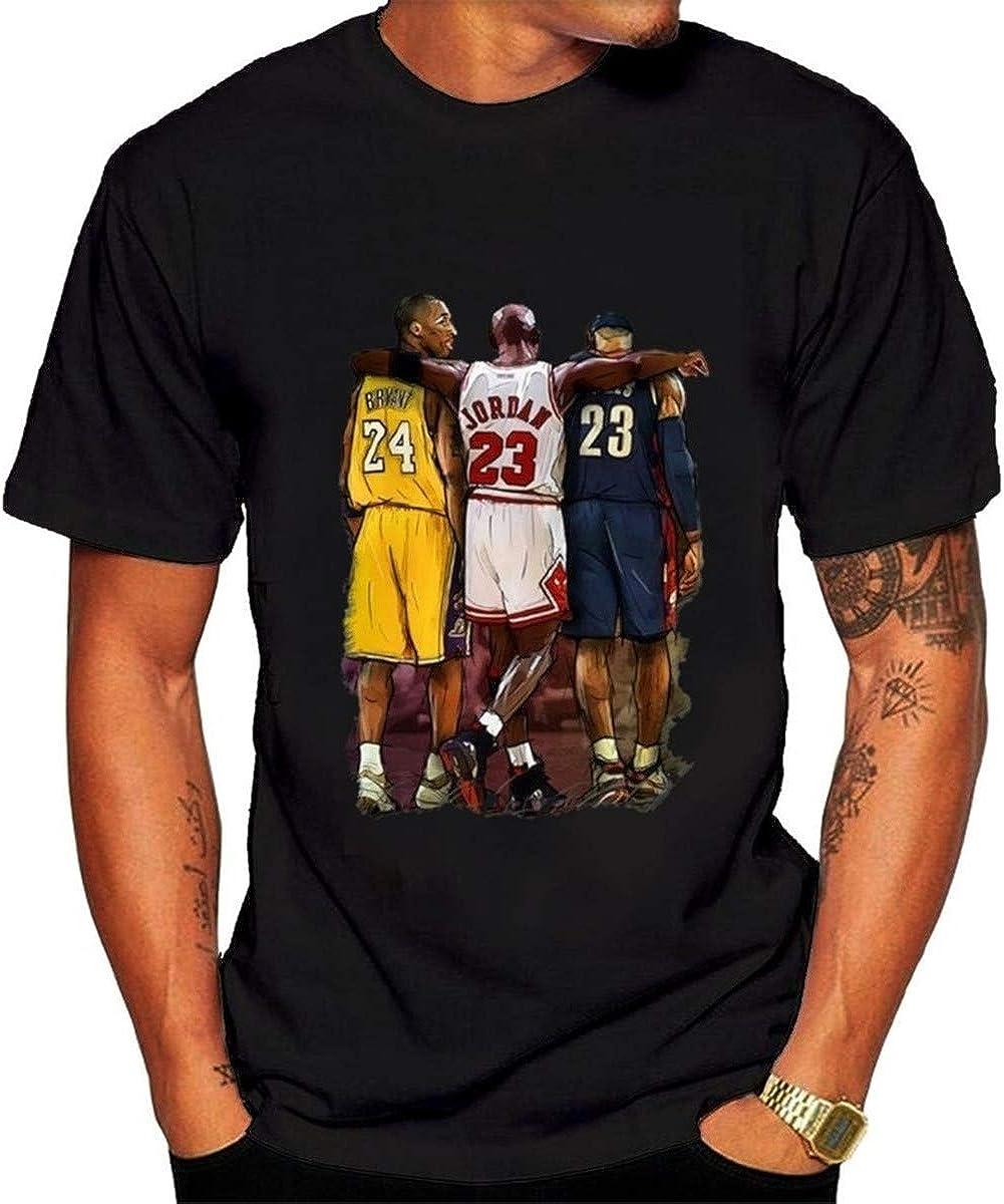 Camiseta de manga corta para hombre de la NBA Lebron James Kobe Bryant Michael Jordan Tee Mujeres Hiphop Shirts: Amazon.es: Ropa y accesorios