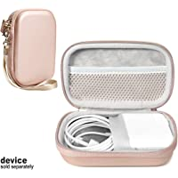 Handy Protective Case for MacBook Air Power Adapter, Also Good for USB C Hub, Type C Hub, USB Multi Ports Type c hub, Featured Compact case for Easy Storage and Protection, mesh Pocket (Rose Gold)