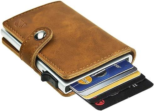 Men/'s Wallet ID Card Paper Money Clip PU Leather Bag Case Holder Business
