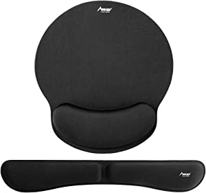 Keyboard and Mouse Pad Wrist Rest, MAD GIGA Memory Foam Set Ergonomic Mouse Pad and Keyboard Wrist Rest Support for Office, Computer, Laptop & Mac, Comfortable and Pain Relief - RoHS Compliant