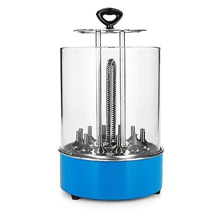 Yscysc Parrilla eléctrica para Barbacoa sin Humo, Herramienta Vertical giratoria térmica para la circulación del