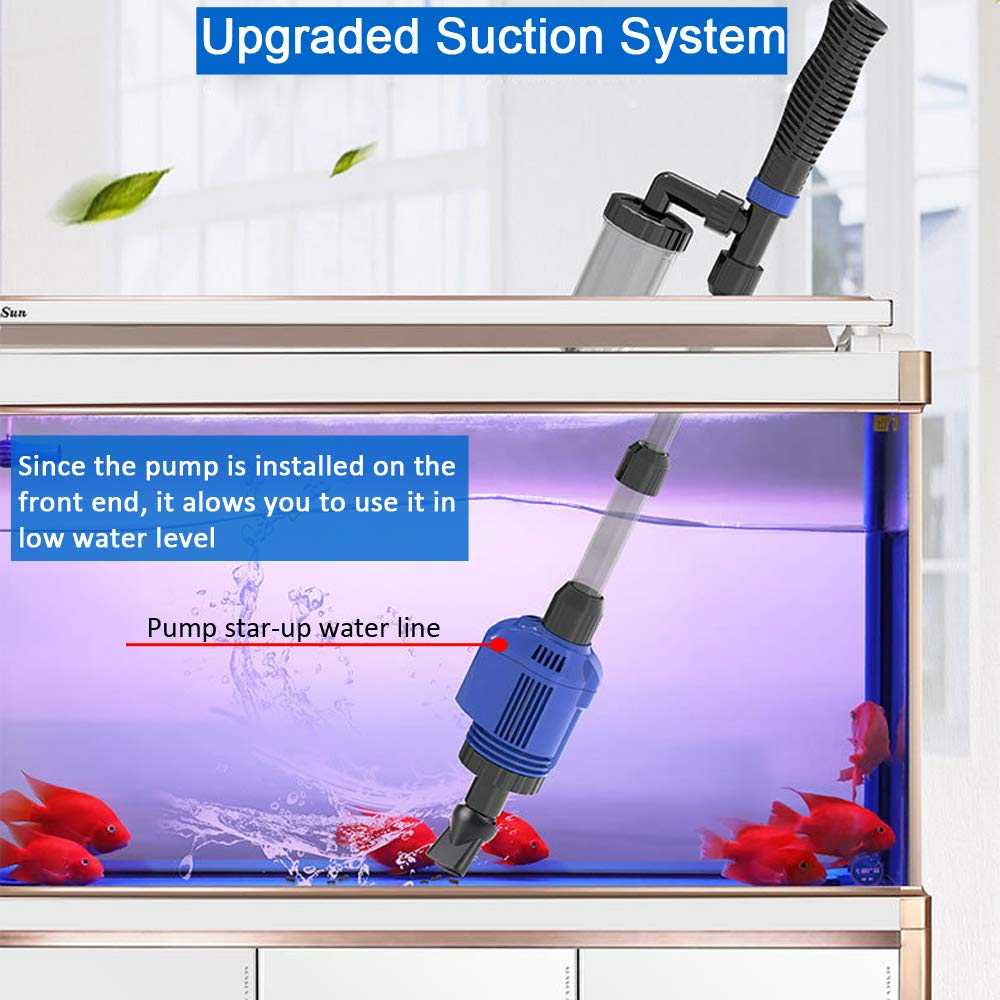 YADICO Electric Aquarium Gravel Cleaner, 3 in 1 Automatic Sludge Extractor for Fish Plant Tanks by YADICO (Image #3)
