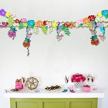 Flower Garland Hawaiian Tropical Beach Party Decorations