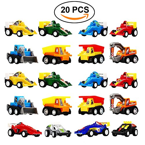 Educational Pack - DIMY Toys for 3-6 Year Old Boy, Pull Back Cars 20 Pcs Gift Pack for Toddlers Infants Educational Toys Gifts PULL03