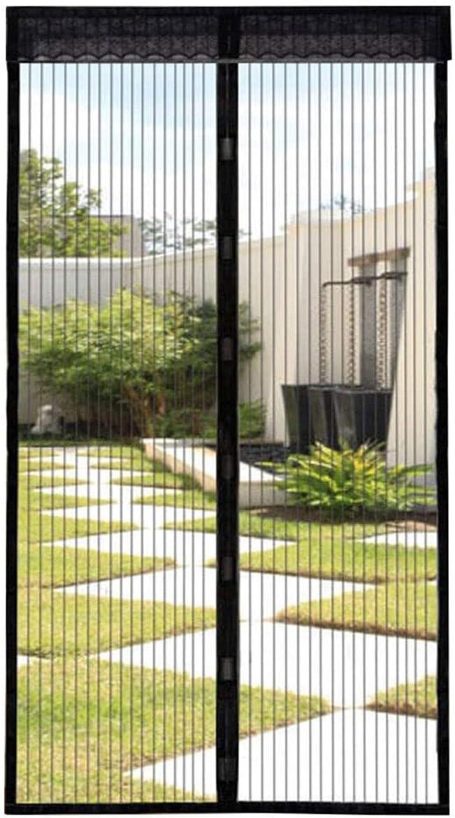 Puerta de pantalla magnética, 36x82inch pantalla cortina del acoplamiento de la puerta, autosellante de pantalla puerta for interior al aire libre, for la puerta francesa / Puerta corrediza, con manos