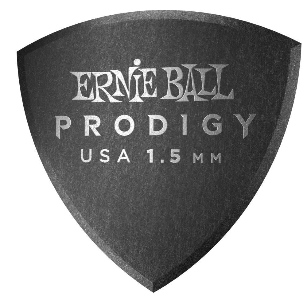1.5 mm Ernie Ball Prodigy Guitar Picks Black
