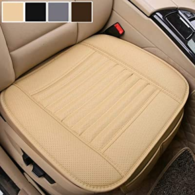 Big Ant Car Seat Cushion, 1PC Breathable Car Interior Seat Cover Cushion Pad Mat for Auto Supplies Office Chair with PU Leather(Beige): Automotive