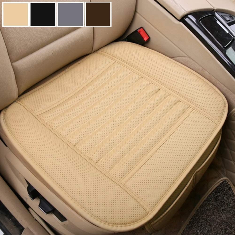 Big Ant Car Seat Cushion 1PC Breathable Car Interior Seat Cover Cushion Pad Mat for Auto Supplies Office Chair with PU Leather Grey