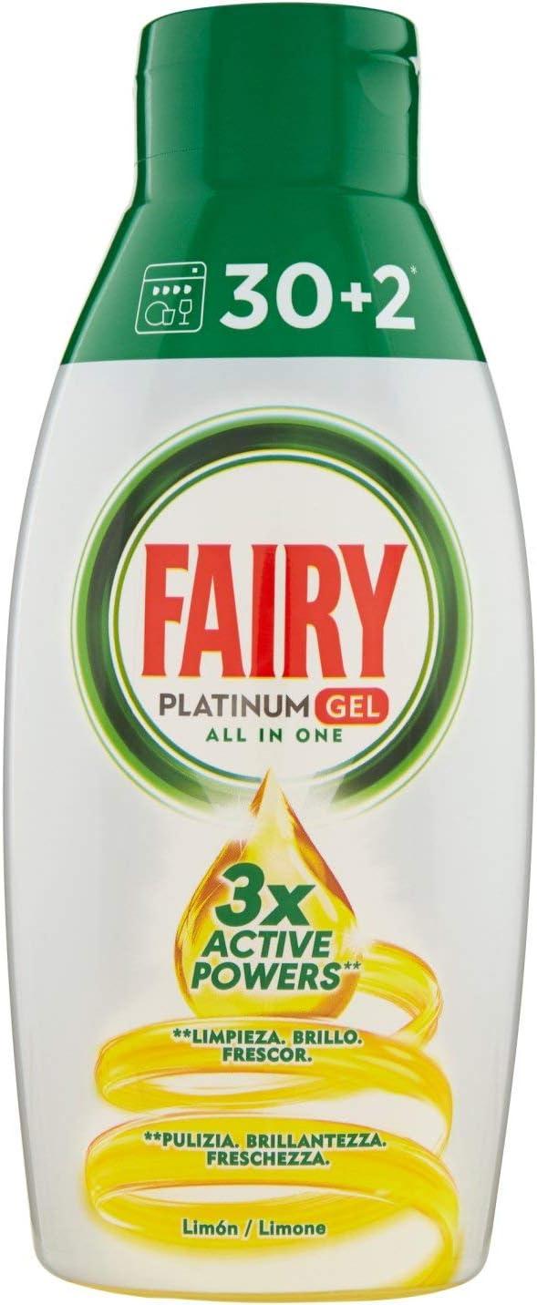 Fairy Platinum Gel Detergente Lavavajillas Todo en 1, Formato Maxi ...