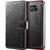 Galaxy Note 5 Case, Verus [Layered Dandy][Black] - [Premium Leather Wallet][Slim Fit] For Samsung Galaxy Note 5