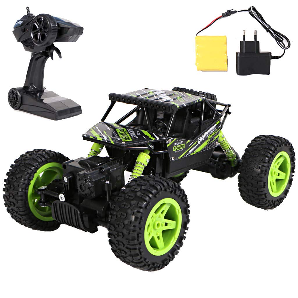 1:18 Remote Control Climbing Car Off Road High Speed RC Car Tracks RC Car 4WD Rock Crawler 1/18 Scale RC Rock Crawler Off-Road Vehicle Toy Climbing Buggy for Kids and Adults