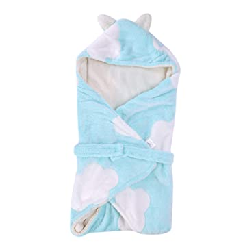 Amazon Com Cute Animal Ears Newborn Baby Swaddle Wrap Blankets
