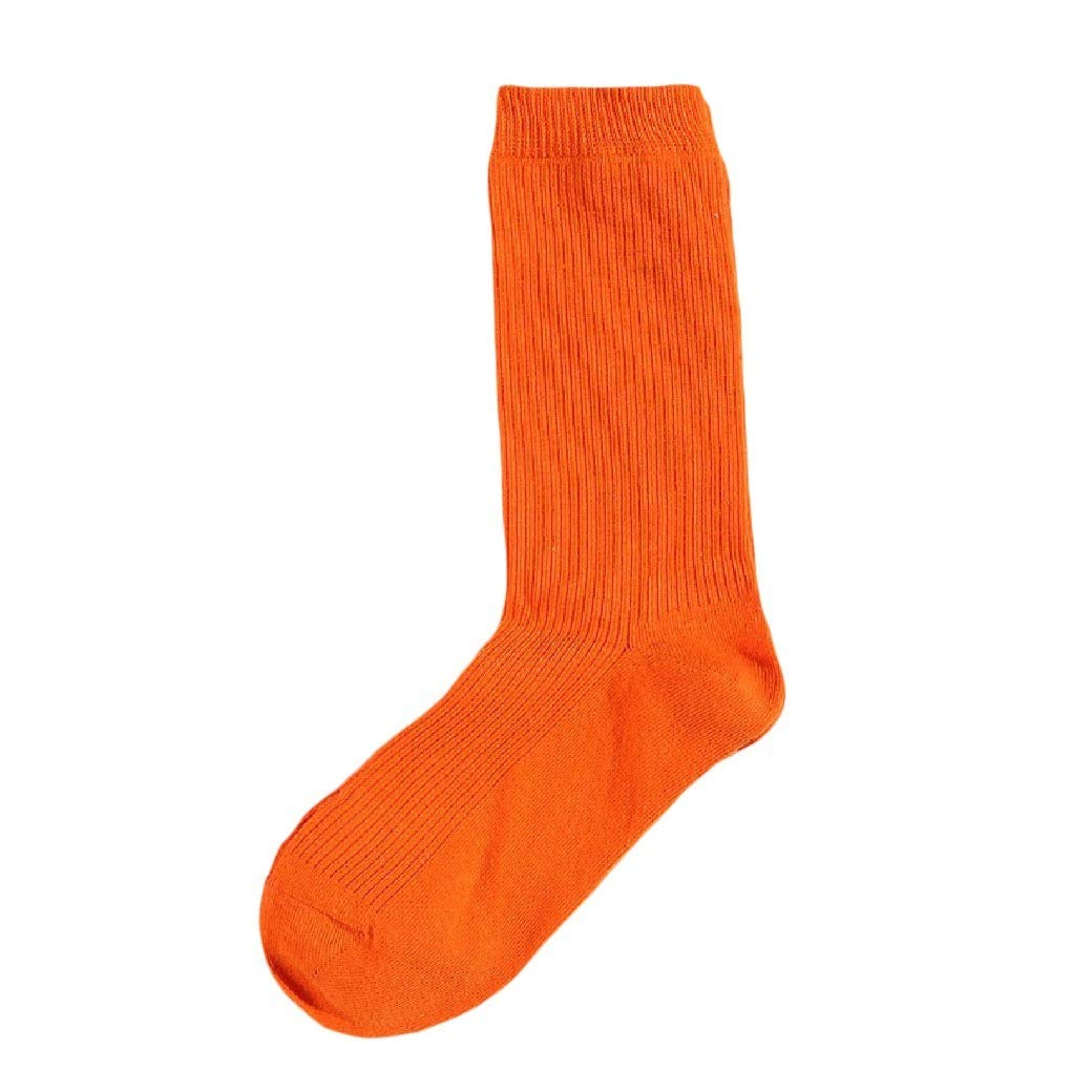 Comaba Women Fall Winter Cotton Solid Colored Crew Socks 20 Pack