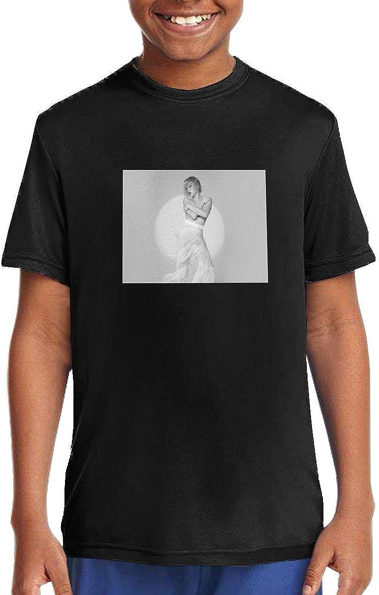 Little Boys T-Shirt Carly Rae Jepsen Short Sleeve Crewneck Cotton Tee Shirt Black