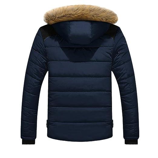 sanfashion Hombre Daunenjacke Plus Fur Slim Casual calientes chaqueta con capucha invierno abrigo gruesos Parka Abrigo con capucha 2XL azul: Amazon.es: Ropa ...