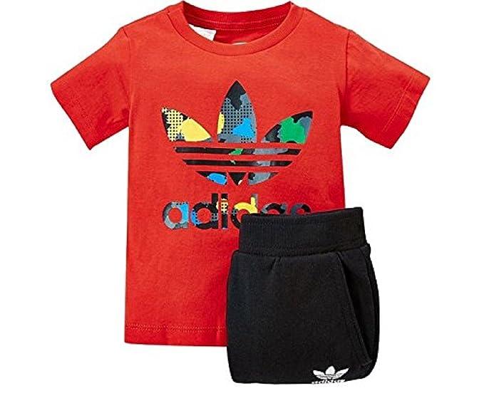 688e5c743 adidas - Conjunto Deportivos - para bebé niño Rojo Rojo Negro  Amazon.es   Ropa y accesorios