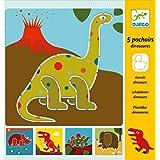 Djeco - 5 Pochoirs Dinosaures
